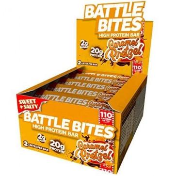 Battle Oats Battle Bites Caramel Pretzel box