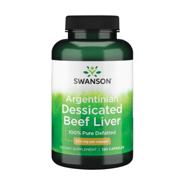 Swanson Argentinian Desiccated Beef Liver 500mg 120 Capsules