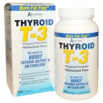 Absolute Nutrition Thyroid T3 180 Capsules