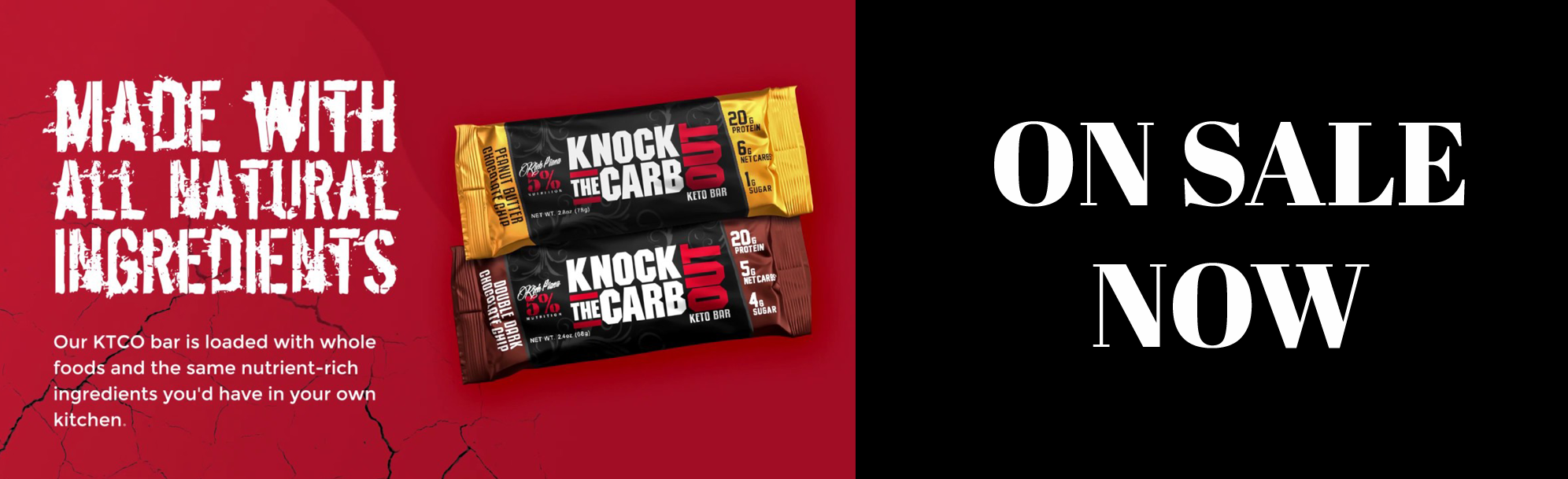 Limited Stock - Rich Piana's Knock the Carb Out Bars